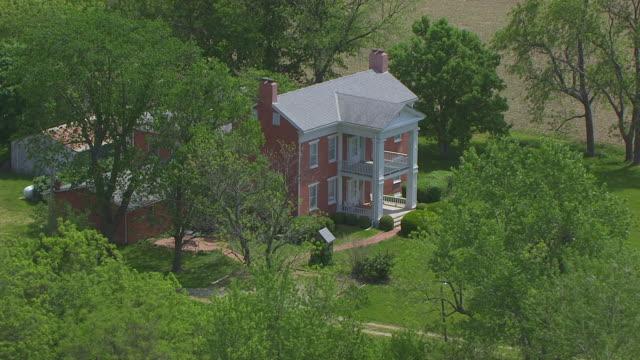MS AERIAL DS Shot of Hicklin Hearthstone / Lexington, Missouri, United States