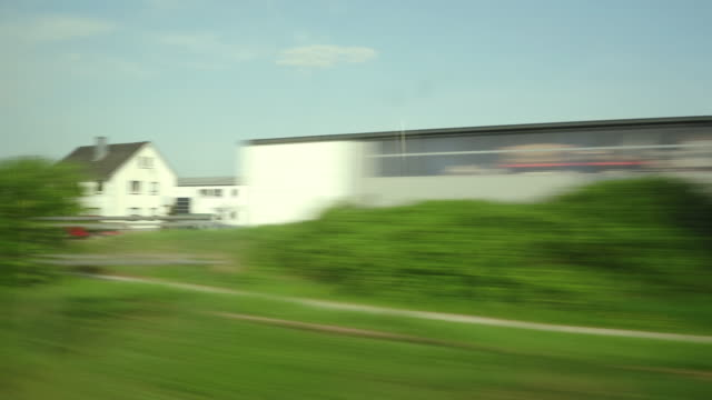 pov shot of high speed train from frankfurt to basel swistzerland - passenger train stock videos & royalty-free footage