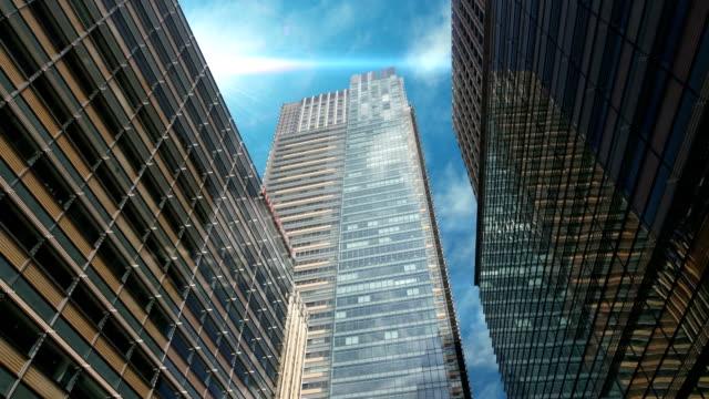 東京都の超高層オフィスビルのショット。 - オフィスビル点の映像素材/bロール