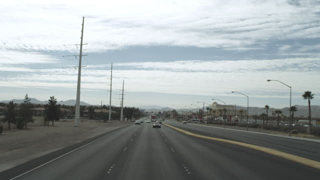 ws pov shot of highway / las vegas, nevada, united states - 1 minute or greater stock videos & royalty-free footage