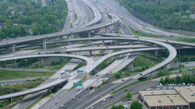 """""""HA WS AERIAL Shot of highways / Washington DC, United States"""""""