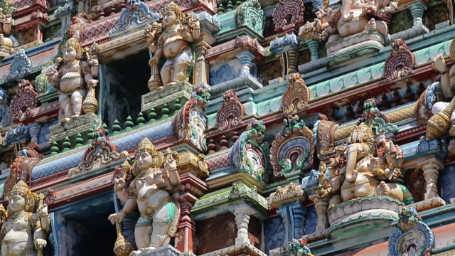 ms tu shot of hindu temple exterior / mahe, seychelles - seychelles stock videos & royalty-free footage