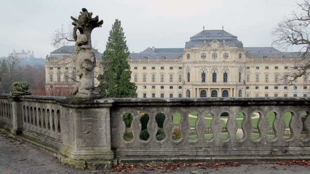 ms shot of hofgarten and residence / wurzburg, bavaria, germany - wurzburg stock videos and b-roll footage