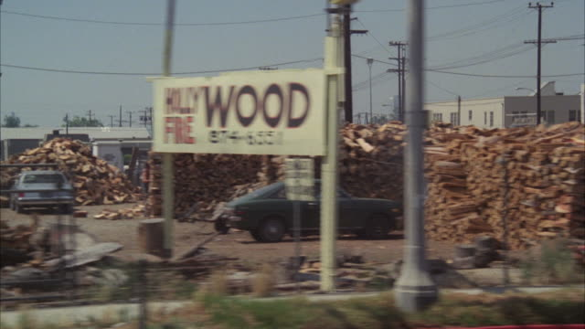 ms pov shot of hollywood freeway and santa monica boulevard past goldwyn studios - 1978 stock videos and b-roll footage