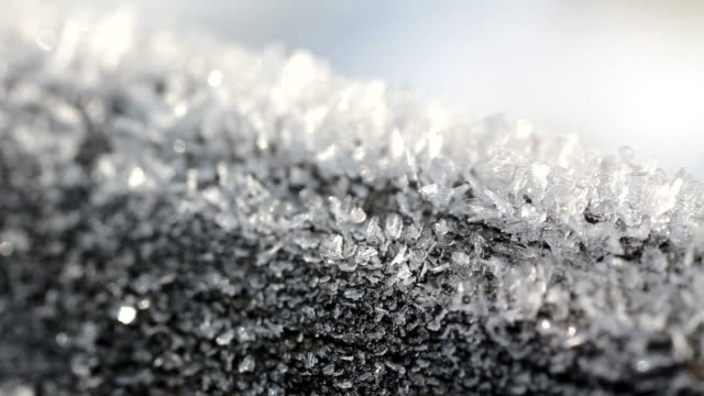 CU Shot of ice crystals / Taben-Rodt, Rhineland Palatinate, Germany
