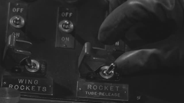 CU Shot of instrument panel and Hand turning switch