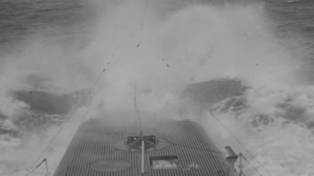 MS POV Shot of iron fence of bombing boat going on river
