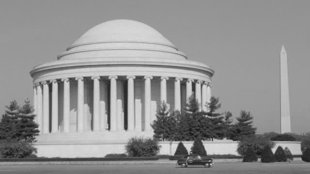 vidéos et rushes de ws shot of jefferson memorial - style néoclassique