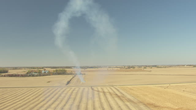 ms aerial ts shot of john mohr barnstormer rises straight up then plummets low over field / minnesota, united states - biplane stock videos & royalty-free footage