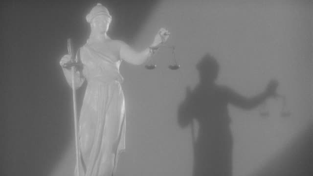 ms shot of justice statue (miniature) - justice concept stock videos & royalty-free footage
