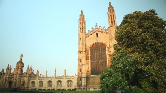 ms shot of kings college cambridge / cambridge, cambridgeshire, united kingdom - cambridge university stock videos & royalty-free footage