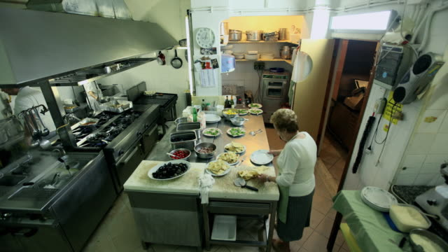 T/L shot of  Kitchen in Restaurant
