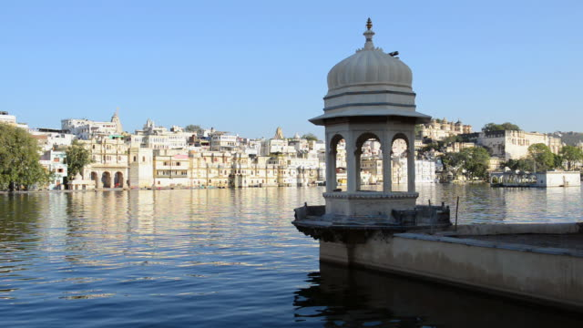 MS Shot of Lake Pichola / Udaipur, Utter Pradesh, India
