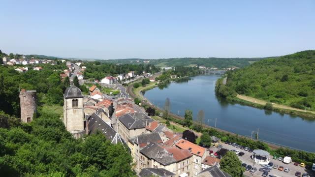 ms shot of le chateau des ducs de lorraine / sierck les bains, lorraine, france - lorraine stock videos & royalty-free footage