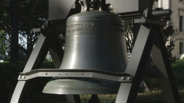 ms shot of liberty bell replica / jackson, mississippi, united states - jackson stock videos & royalty-free footage