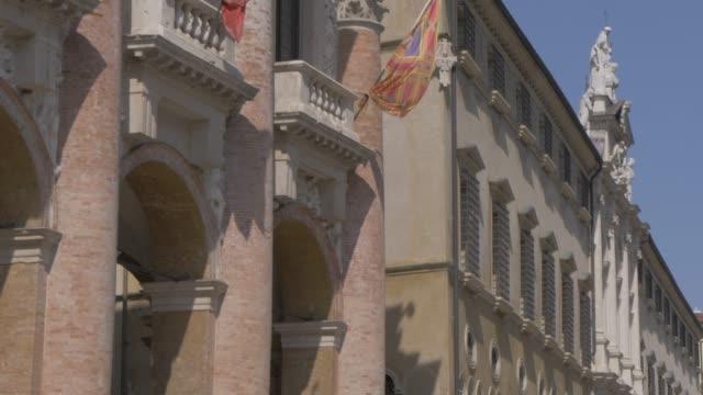 Shot of Loggia del Capitanio in Piazza dei Signori, Vicenza, Veneto, Italy, Europe