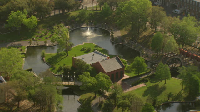 ms aerial shot of louis armstrong park / new orleans, louisiana, united states - louisiana stock videos & royalty-free footage