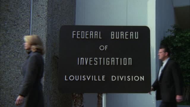 MS TU Shot of louisville fbi office / Los Angeles, California, United States