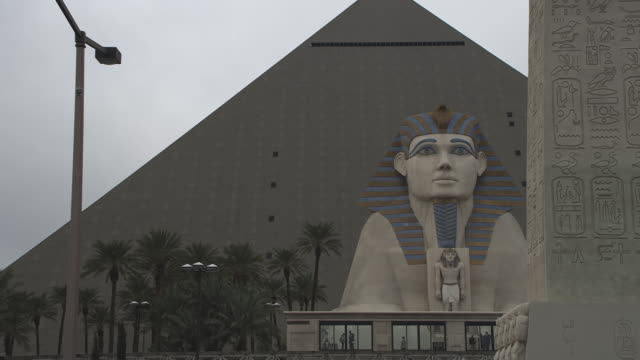 MS Shot of Luxor Casino Sphinx / Las Vegas, Nevada, United States