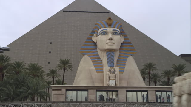 MS LA TS POV Shot of Luxor Casino Sphinx / Las Vegas, Nevada, United States