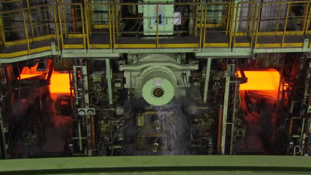ms shot of making process steel / gwangyang, jeollanamdo, south korea - steel stock videos & royalty-free footage