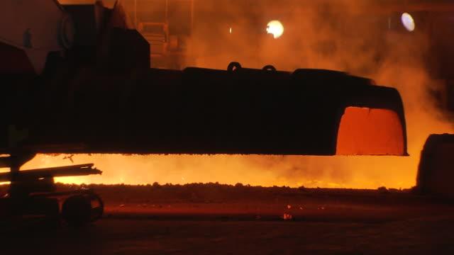 MS ZI Shot of making process steel in factory / Gwangyang, Jeollanamdo, South Korea