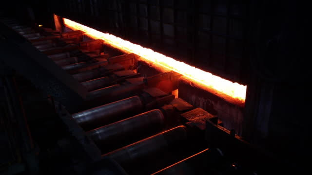 shot of making process steel in iron foundry plant - steel stock videos & royalty-free footage