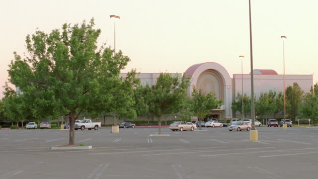 WS Shot of mall parking lot