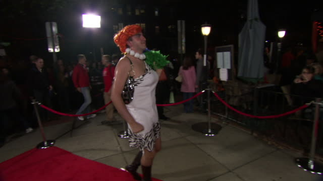 ms pov td shot of man in drag costume struts and poses on red carpet during high heel race in dupont circle / washington, dist. of columbia, united states - dupont circle stock videos & royalty-free footage