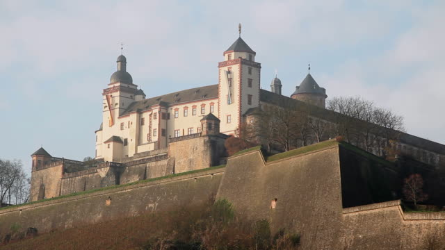 ms shot of marienberg fortress / wurzburg, bavaria, germany - wurzburg stock videos and b-roll footage