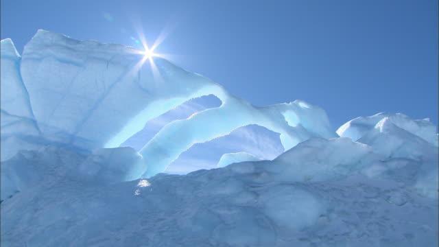 Shot of melting Antarctica