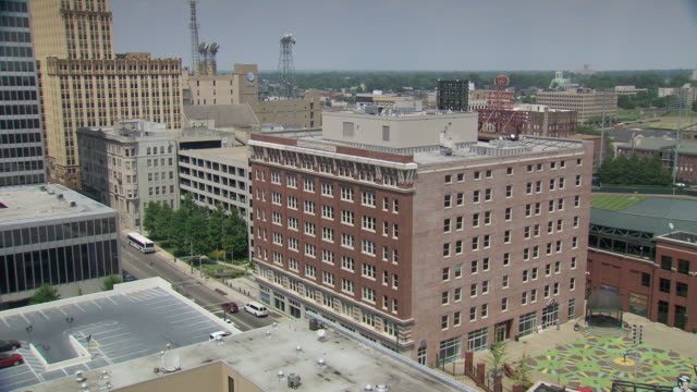 WS Shot of Memphis skyline / Memphis, Tennessee, United States