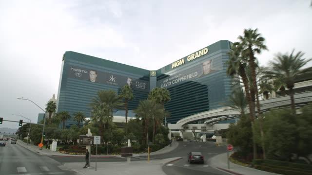MS LA POV Shot of MGM Grand Casino / Las Vegas, Nevada, United States