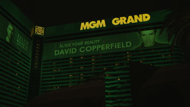 CU LA Shot of MGM Grand Casino / Las Vegas, Nevada, United States