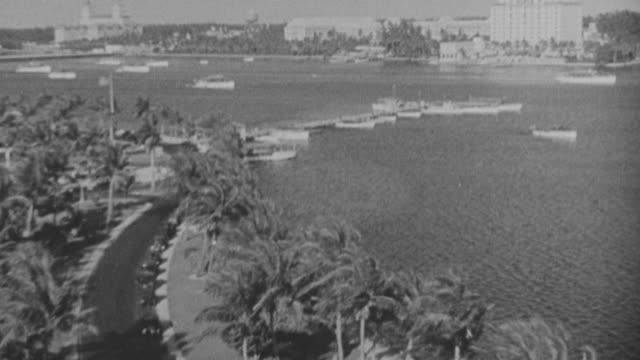 vídeos y material grabado en eventos de stock de ws shot of miami / - embarcación de pasajeros