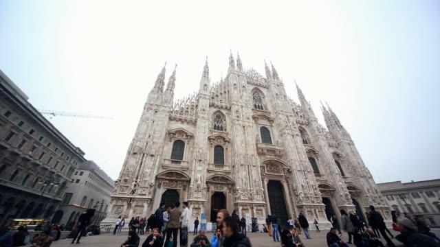 WS PAN LA Shot of Milan Dome Cathedral / Milan, Lombardia, Italy
