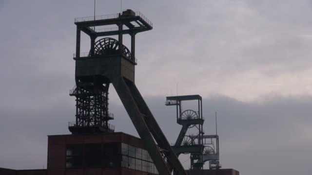 ms la shot of minning industry musee les mineurs wendel / petite rosselle, lorraine, france - lorraine stock-videos und b-roll-filmmaterial