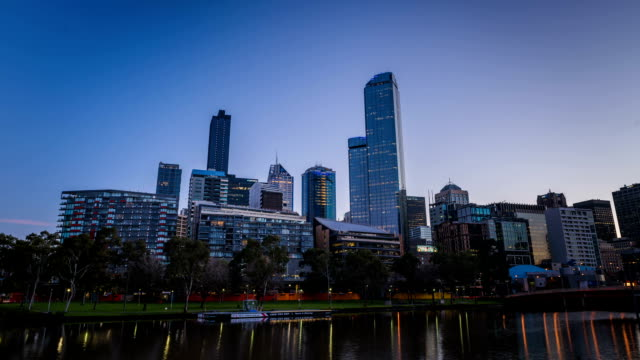 Shot of modern buildings at Melbourne