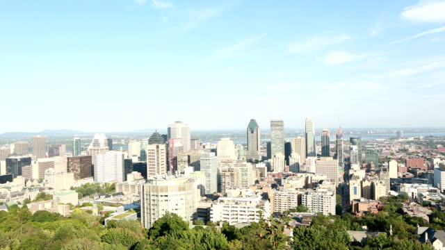 Shot of Montreal Downtown in Summer