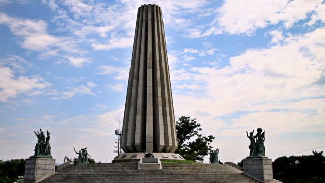 MS Shot of Monument marty diplomatic envoys in Imjingak / Paju, Gyeonggi-do, South Korea