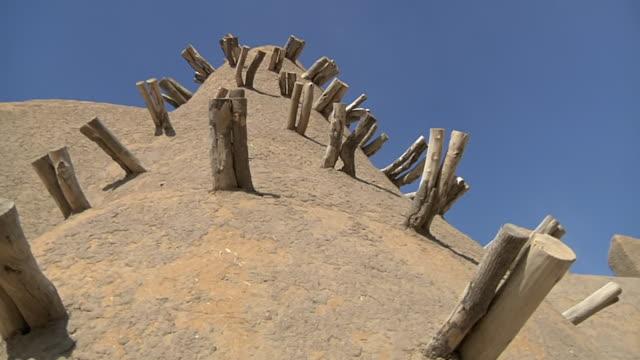 Shot of Mosque / Southern edge of the Sahara Desert Timbuktu Mali