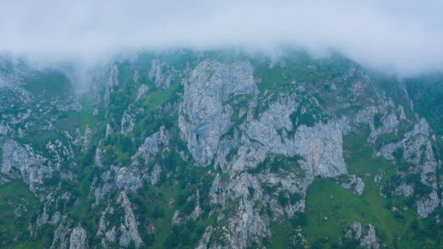 MS T/L ZO LA Shot of Mountains at Casano river valley / Picos de Europa, Asturias, Spain