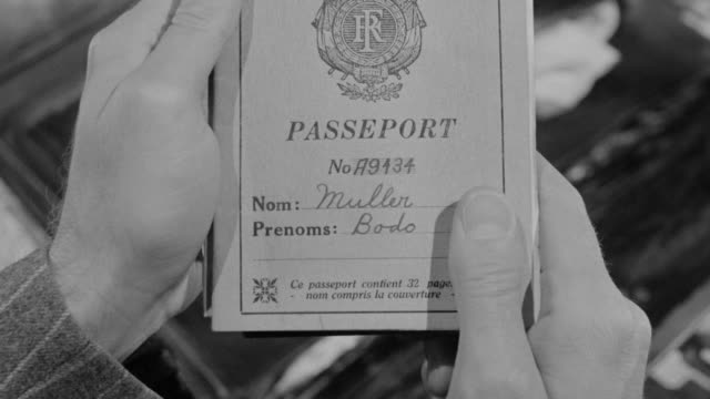 ms shot of multiple passports in hand - passport stock videos & royalty-free footage