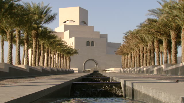 ws shot of museum of islamic art / doha, qatar - doha stock videos & royalty-free footage