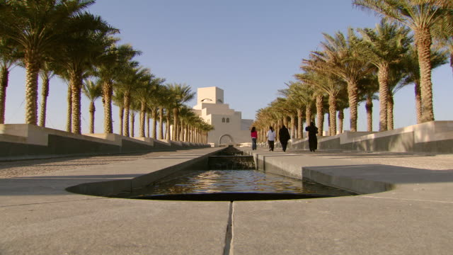 WS Shot of Museum of Islamic art / Doha, Qatar