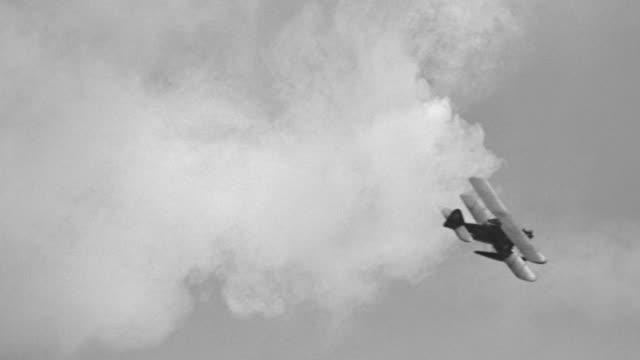 MS Shot of Nazi hydroplane in flight