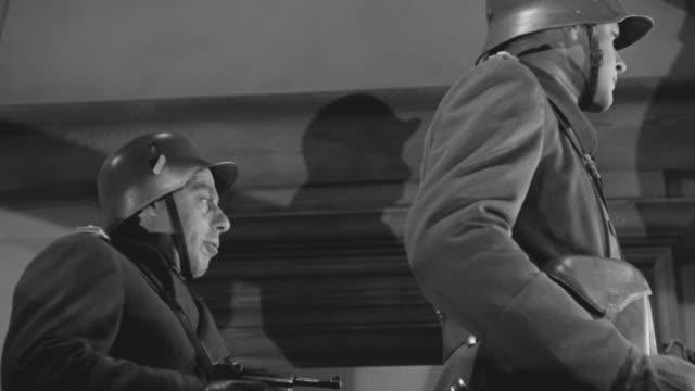 cu td pov shot of nazi officers watching after shootout - officer militär grad bildbanksvideor och videomaterial från bakom kulisserna