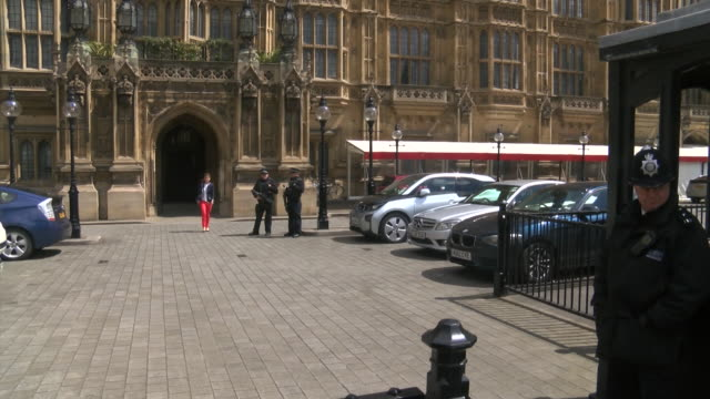 shot of newly elected labour mp jo cox walking out of the palace of westminster - jo cox politician stock videos and b-roll footage