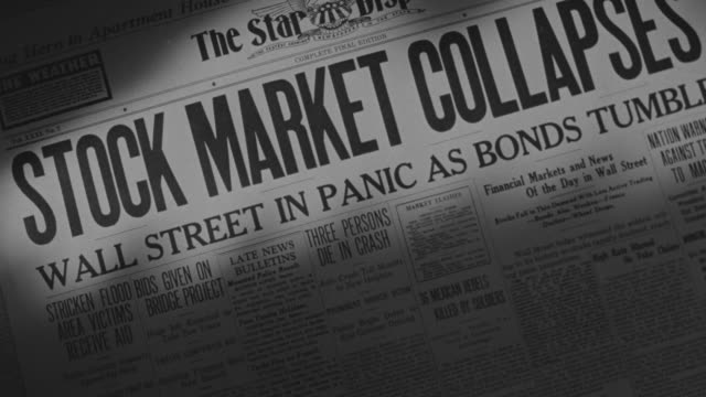 cu shot of newspaper - crisis stock videos & royalty-free footage