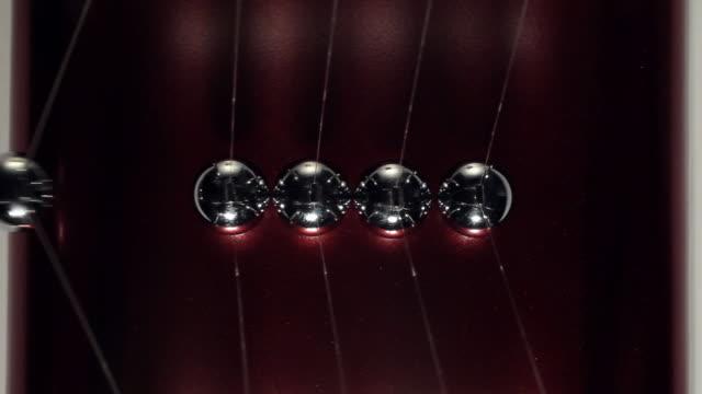 ms shot of newton's pendulum / seoul, south korea - five objects stock videos & royalty-free footage